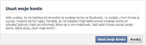 jak usunąć facebook