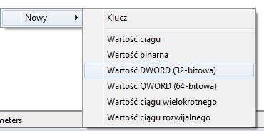 Wartość DWORD (32-bitowa)