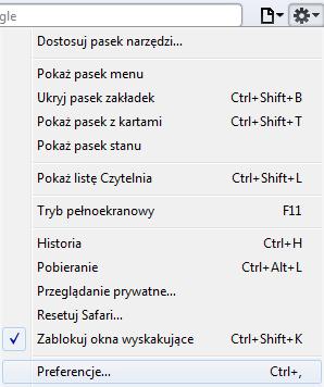 safari3 Jak ustawić stronę startową? Chrome/Firefox/Safari/Internet Explorer