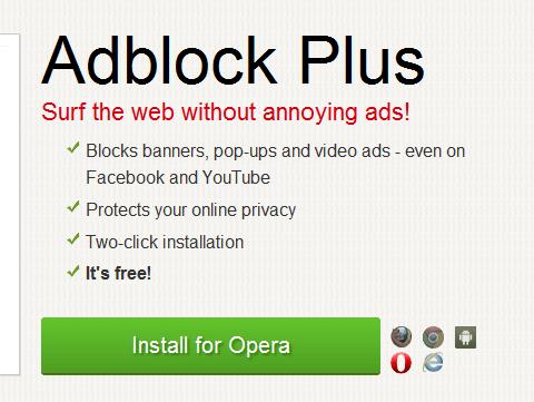 Następnie przejdź na ten adres internetowy – AdBlock Plus