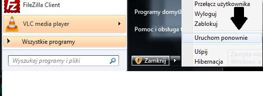 uruchom ponownie komputer Największy Poradnik w Sieci   Tryb Awaryjny w Windows 7/8/XP