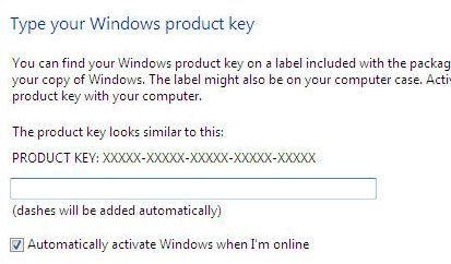 instalacja windows - klucz instalacyjny