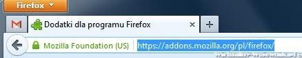 Przeprowadź instalacje Stylish w Mozilla FireFox