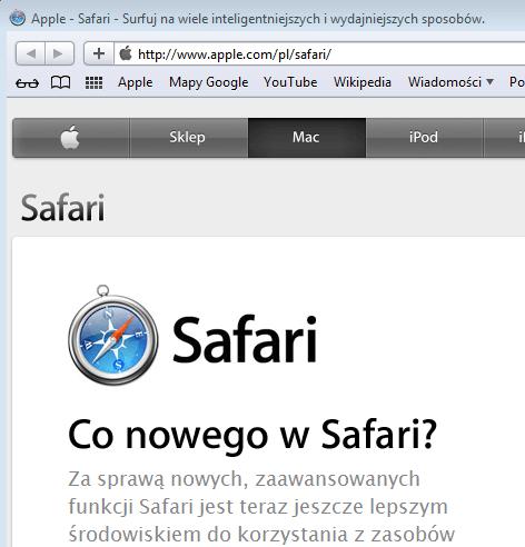 Jak ustawić stronę startową dla Safari?