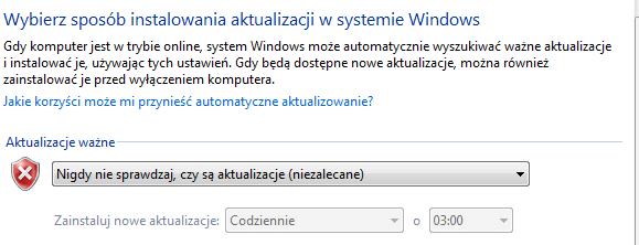 5 Jak wyłączyć aktualizacje Windows 7