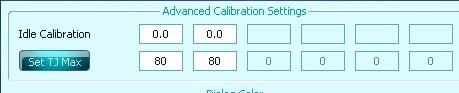 Advanced Calibration Settings