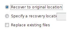 Recover to original location