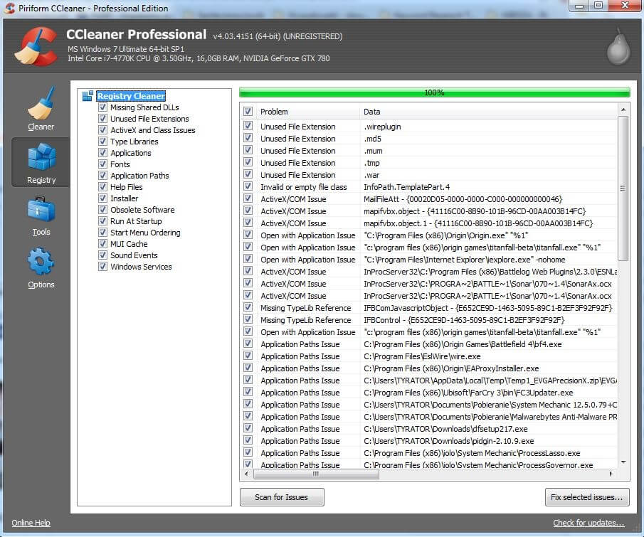Ccleaner-Interfejs