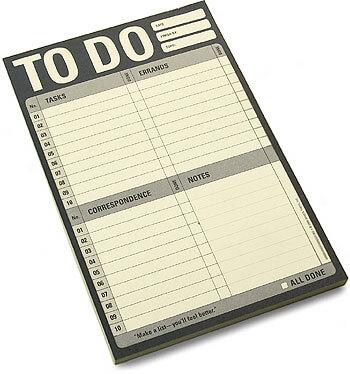 Sporządź listę rzeczy do zrobienia