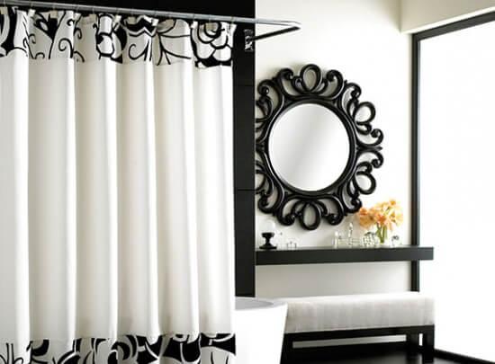 designerskie zasłony prysznicowe