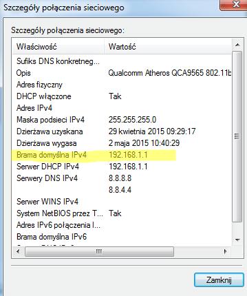brama ip routera